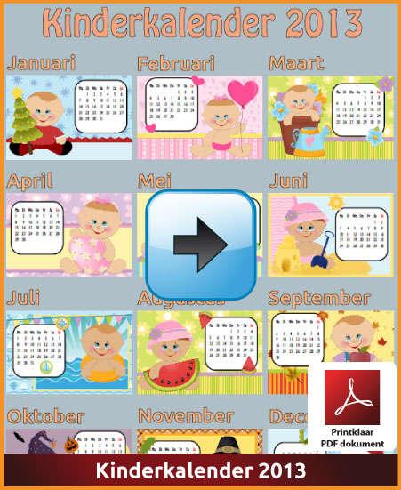 Gratis jaarkalender 2013 kinderkalender met de Belgie feestdagen en schoolvakanties (download kalender 2013) via www.feestdagen-belgie.be