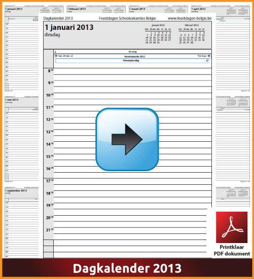 Gratis dagkalender 2013 met de Belgie feestdagen en schoolvakanties. (download kalender 2013) via www.feestdagen-belgie.be
