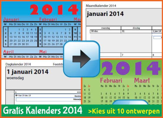 Kalenders Jaarkalenders 2014 Gratis Downloaden en Printen via www.feestdagen-belgie.be