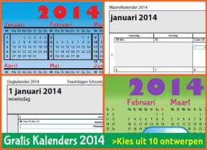 kalenders 2014 gratis downloaden met Belgische feestdagen en schoolvakanties via http://www.feestdagen-belgie.be/