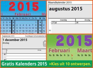 kalenders 2015 gratis downloaden met Belgische feestdagen en schoolvakanties via http://www.feestdagen-belgie.be/